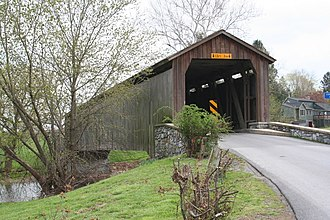 Hunsecker's Mill Covered Bridge - Image: Hunsicker Mill Bridge