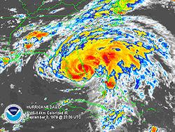 Hurricane that hit panama city beach in the 90s