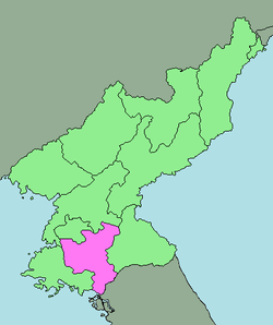 Location of North Hwanghae Province