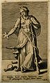 Hygieia, goddess of health, holding a pentangle and a staff Wellcome V0007556.jpg