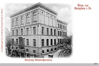 Wilhelmsgymnasium (Königsberg) - Postcard of the school