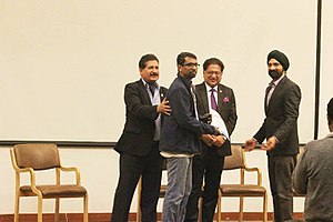 George Thengummoottil - George Thengummoottil Receiving award from Mr Harkirat Singh, Managing Director, Woodland India and Mr Deepak Misra Manager of ONGC, at the IMF Mountain Film Festival.