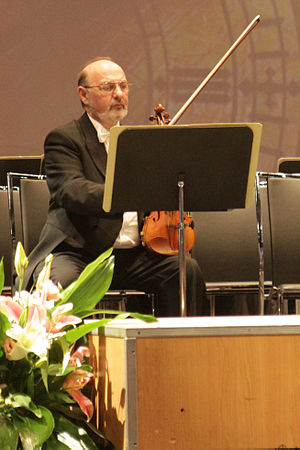 Concertmaster - Lazar Shuster, Concertmaster of the Israel Philharmonic Orchestra in 2012.