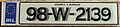 IRELAND, WATERFORD CITY 1998 -LICENSEPLATE WITH SHADOW FONTS - Flickr - woody1778a.jpg