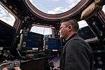 ISS-45 Kjell Lindgren in the Cupola.jpg