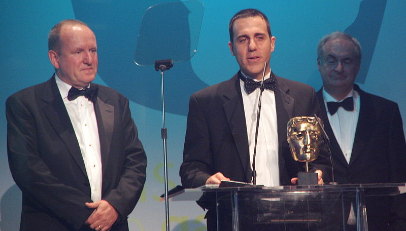 File:Ian Livingstone, Paul Gambaccini - Bafta Awards 2006.jpg