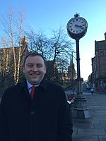 Ian Murray MP Morningside Clock.JPG