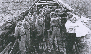 Víkingasveitin - Officers practicing rifle shooting in 1940.