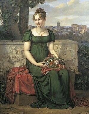 Ida Brun - Portrait of Ida Brun, by J.L. Lund (1811)