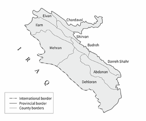 Ilam Province - The counties of Ilam province.