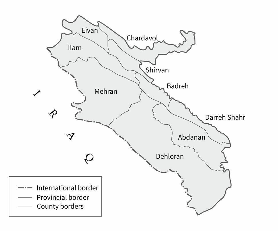 Ilam Prov Counties