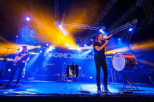 Imagine Dragons - The band embarked on the Night Visions Tour in 2013.