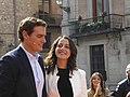 Inés Arrimadas y Albert Rivera, políticos catalanes constitucionalistas, en la Plaza de la Villa, en Madrid, España.jpg