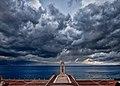 In arrivo il temporale sull'Arena.jpg