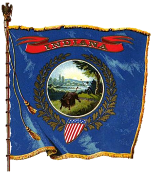 Flag of Indiana - Image: Indiana Flag (1903)
