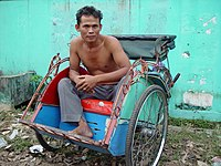 Indonesian becak