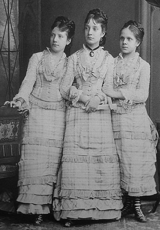 Infanta María del Pilar of Spain - Form left to right : Infantas Paz, Pilar and Eulalia of Spain.