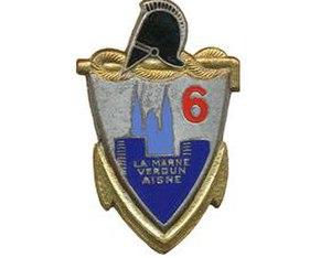 6th Engineer Regiment (France) - Regimental insignia