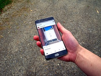 Instagram - The Instagram app, running on the Android operating system.