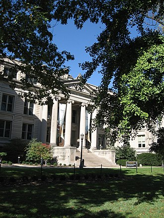 Pentacrest - Macbride Hall, which houses the University of Iowa Museum of Natural History.