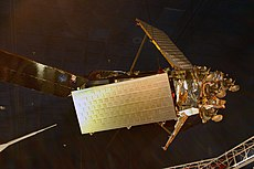A mockup of an Iridium satellite