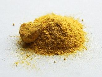 Iron(II) oxalate - Image: Iron(II) oxalate sample