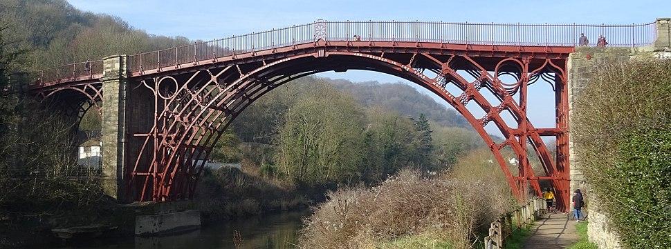 Iron Bridge east side in February 2019