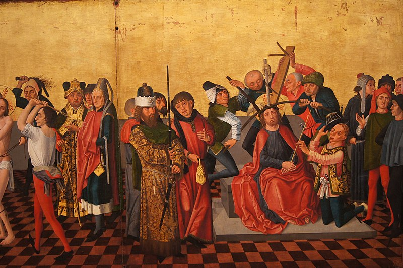 File:Isenmann, Colmar Altarpiece (Flagellation, Crowning with Thorns).jpg