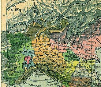 March of Montferrat - The March of Montferrat (blue) in 1494