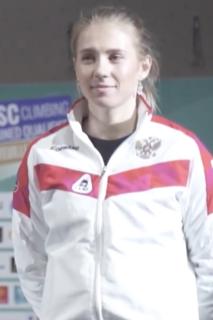 Iuliia Kaplina Russian sport climber