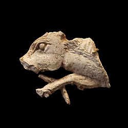 Plaque fragment: cow head
