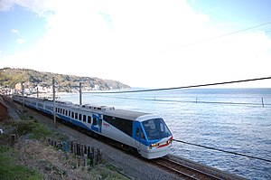 Izu Kyūkō Line - Resort 21 train on Izu Peninsula coast