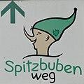 Jüterbog Spitzbubenweg Markierung.JPG