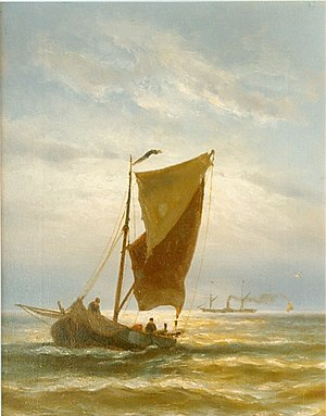 Johannes Hermanus Barend Koekkoek - Fishing Boat, Vlissingen