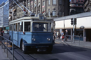 Trolleybuses in Lausanne - Image: JHM 1964 TL 2 Lausanne
