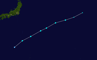 1951 Pacific typhoon season - Image: JMA TS 01 1951 track