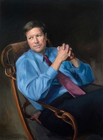 Official congressional portrait of Kasich as chairman of the House Budget committee. JRKasich.jpg