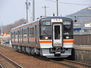 Taita Line - A JR Central KiHa 75 series DMU on the Taita Line in March 2015