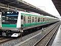 JR East E233-7000 Series Saikyō Line at Ikebukuro Station.jpg