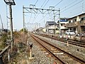 JR Nara Line from Haraigawa Crossing (North).JPG