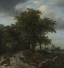 Jacob van Ruisdael (1628-1629-1682) - A Road winding between Trees towards a Distant Cottage - NG988 - National Gallery.jpg