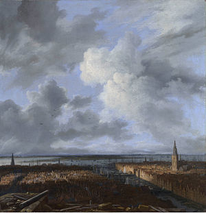 View on the Amstel from Amsteldijk - Image: Jacob van Ruisdael A view of Amsterdam 1665 1670