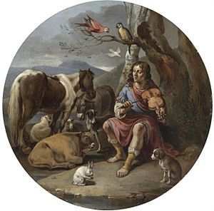 Jacob van Staverden - Orpheus playing the lyre