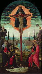 Votive Altarpiece: the Trinity, the Virgin, St. John and Donors