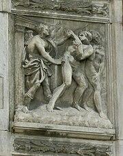 Cacciata dal Paradiso terrestre, Porta Magna, San Petronio, Bologna