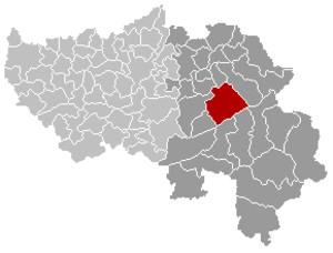 Jalhay - Image: Jalhay Liège Belgium Map