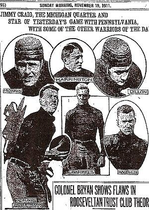 James B. Craig - Jimmy Craig, hero of the 1911 Penn. game