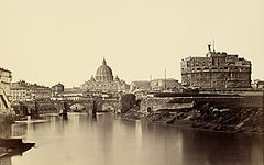 James Anderson View of Rome over the Tiber c1853.jpg
