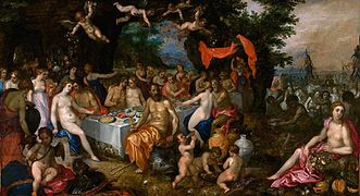 Jan Brueghel and Hendrick van Balen - The Marriage of the Goddess of the Sea, Thetis, and King Peleus, 1610.jpg