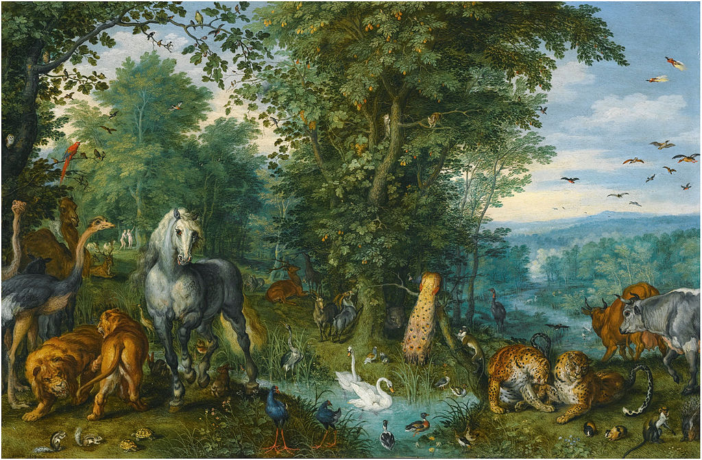 File:Jan Brueghel the Elder - The Garden of Eden with the Fall of ...